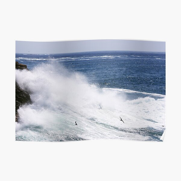 Ocean Waves Point Lookout Poster