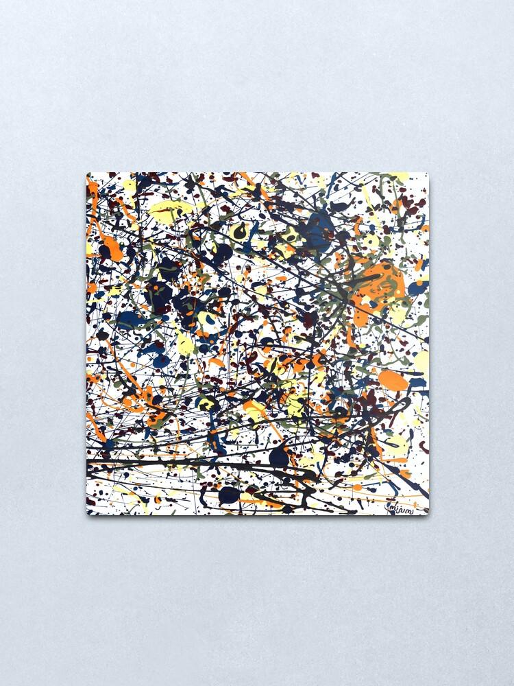Alternate view of mijumi Pollock Metal Print