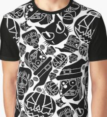Halloween Pattern (White and Black) Graphic T-Shirt