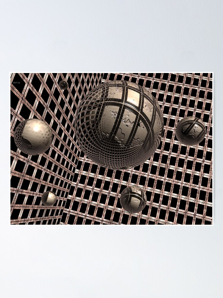 Alternate view of Spheres Under Construction Poster
