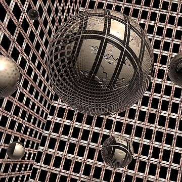 Spheres Under Construction by perkinsdesigns
