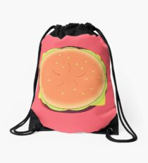 Cheeseburger Backpack Drawstring Bag