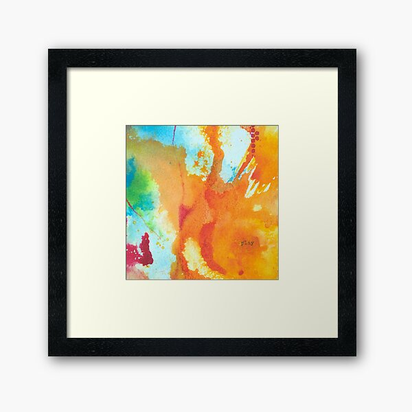 Play Affirmation - Bright abstract Painting Framed Art Print