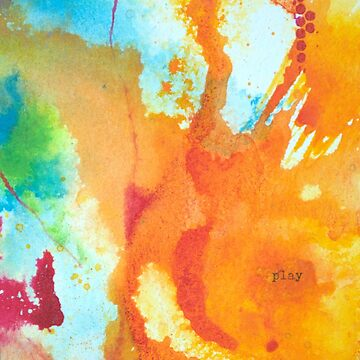 Play Affirmation - Bright abstract Painting by KoreSage