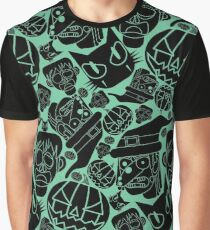 Halloween Pattern (Teal) Graphic T-Shirt