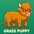 Grass Puppy - Scottish Highland Cow by TechraNova