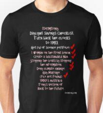 1Term Tony/ Daylight Savings/ Black Tshirts Unisex T-Shirt