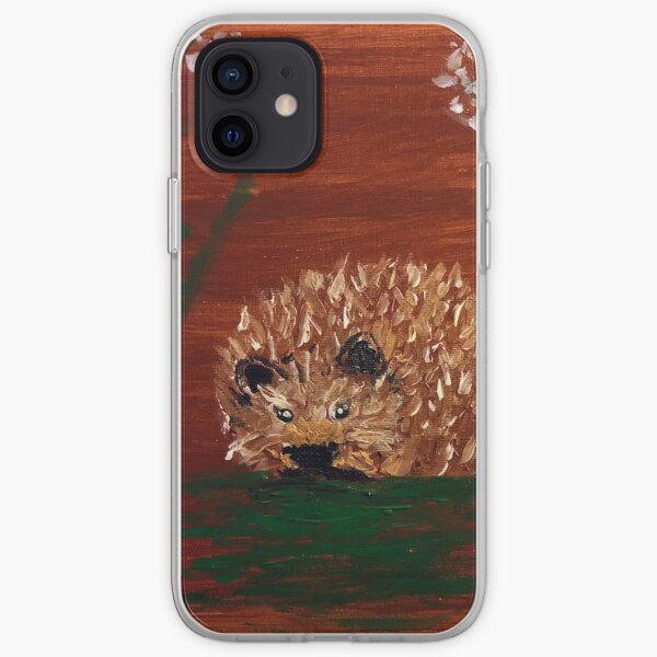 arylic painting hedgehog iPhone Soft Case