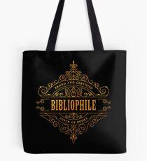 Gold Bibliophile - black Tote Bag