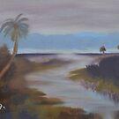Across the Wetlands in Oil by Warren  Thompson