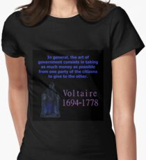 In General The Art Of Government - Voltaire Women's Fitted T-Shirt