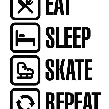 Eat sleep figure ice skate repeat by LaundryFactory