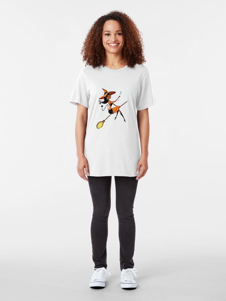 Alternate view of Devil Girl - Halloween 2 Slim Fit T-Shirt