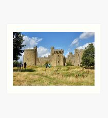 The Ruins of Bodium Castle in East Sussex, England Art Print