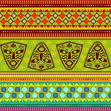 Colorful African Pattern by bza84