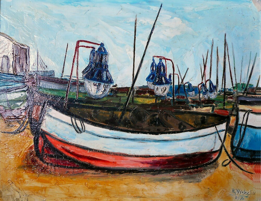 Fishing Boats Spain  by Woodie