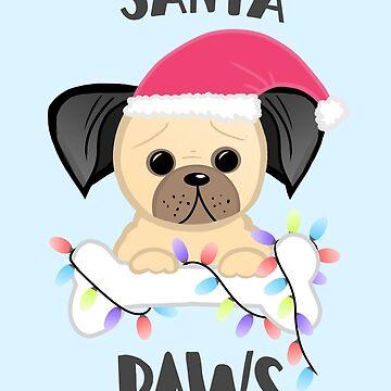 Santa Paws, Dog, Pug Christmas  by JTBeginning-x