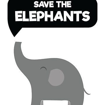 Save The Elephants Raise Awareness Animal Extinction Shirt by allsortsmarket