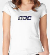 Doc & his Delorean Women's Fitted Scoop T-Shirt