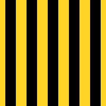 Yellow and Black Honey Bee Vertical Cabana Tent Stripes by podartist