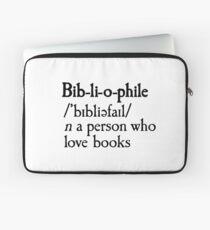 Bibliophile dictionary definition description reading book lovers Laptop Sleeve