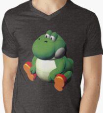 Camiseta para hombre de cuello en v Yoshi grande