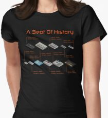 Synthesizer and Drum Machine T shirt - A Beat Of History Women's Fitted T-Shirt