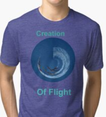 Creation Of Flight Design Tri-blend T-Shirt