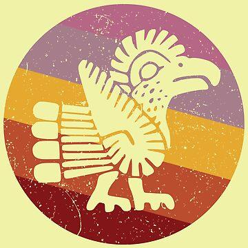Trendy Navajo Style Turkey Retro by eldram