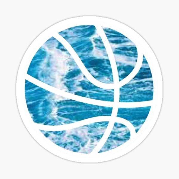 basketball: ocean Sticker