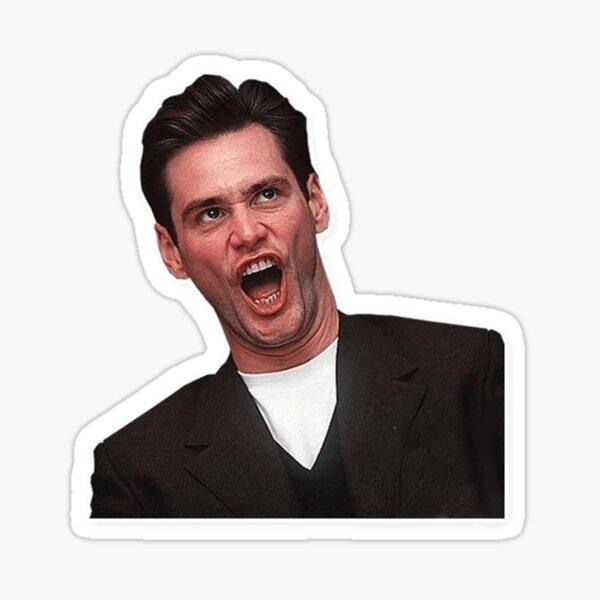 Jim Carrey, Jim Carry, grimace, sourire, rire, amour, cinéma, films, films, professions, acteur, culture, cool, fou, bonnes vibrations Sticker