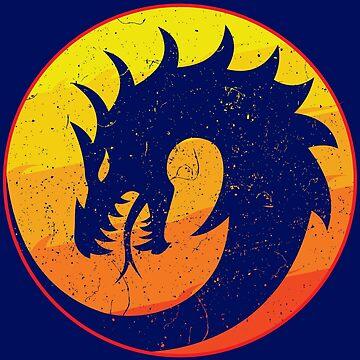 Trendy Flaming Dragon Retro by eldram