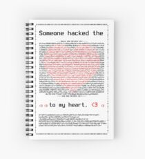 Smooth Cyber Security Criminal Valentine's Day Spiral Notebook