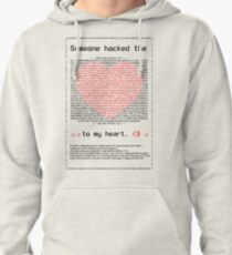 Smooth Cyber Security Criminal Valentine's Day Pullover Hoodie