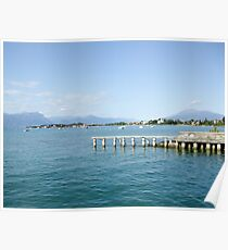 Small dock on the lake Poster
