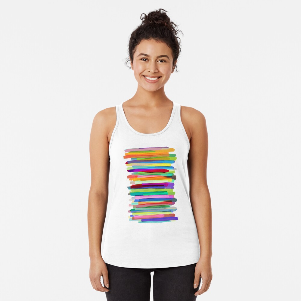 Colorful Stripes 1 Racerback Tank Top