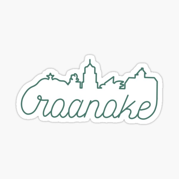 Roanoke city skyline  Sticker