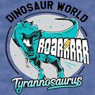 Tyrannosaurus Dinosaur World Design by graphicloveshop