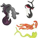 Merpeople on the Move - Sticker Set 4 by TooCoolUnicorn