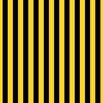 Yellow and Black Honey Bee Vertical Beach Hut Stripes by podartist