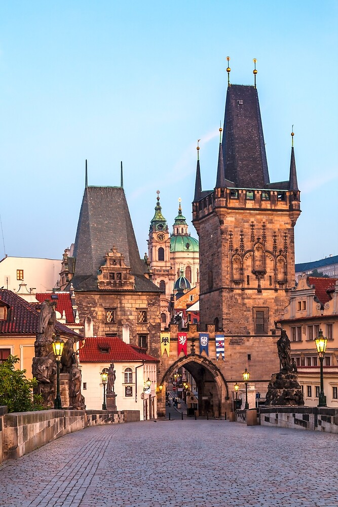 Prague 008 - Charles Bridge in the Early Morning by seeczechia