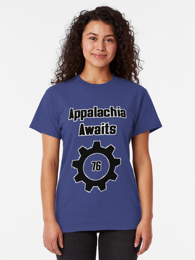 Alternate view of Appalachia Awaits - Fallout 76 Classic T-Shirt