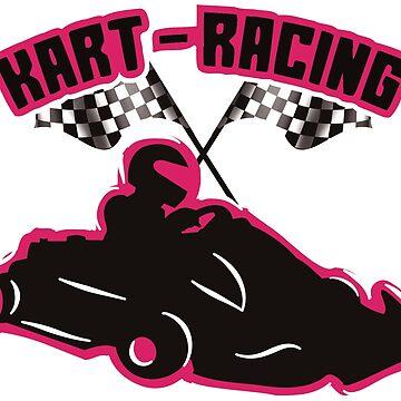 Kart Racing Pink by AK1Shirts