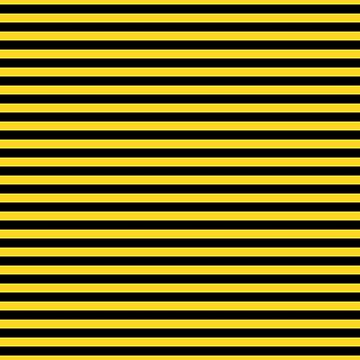 Yellow and Black Honey Bee Horizontal Deck Chair Stripes by podartist