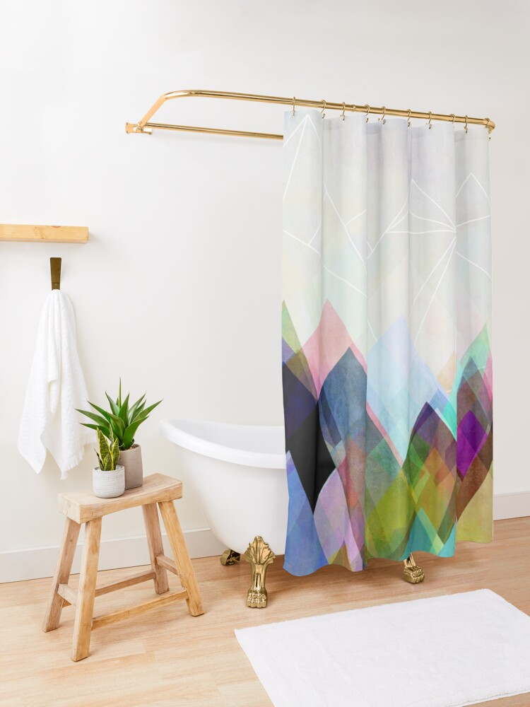 Alternate view of Graphic 104 Shower Curtain