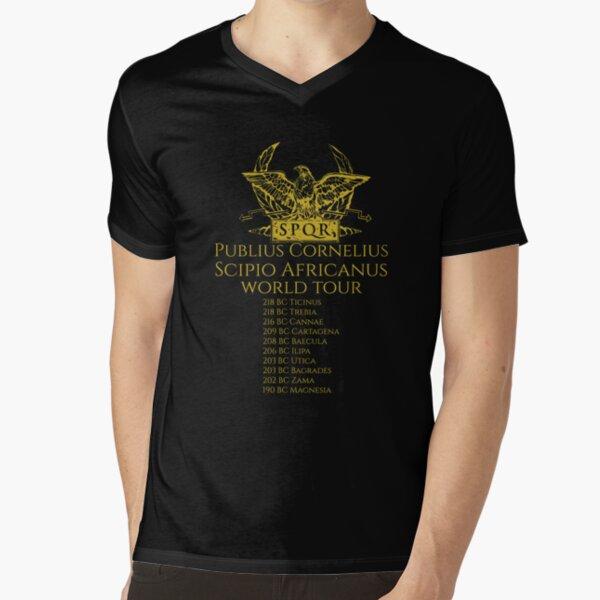 Scipio Africanus World Tour V-Neck T-Shirt
