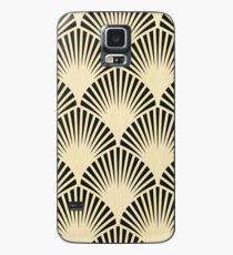 Art deco,black,beige,rustic,vintage,fan,pattern,elegant,chic Case/Skin for Samsung Galaxy