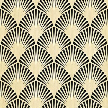 Art deco,black,beige,rustic,vintage,fan,pattern,elegant,chic by love999