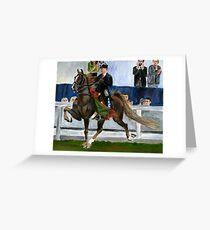 American Saddlebred Horse Portrait Greeting Card
