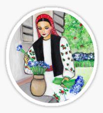 Folk art -  Flower garden Sticker